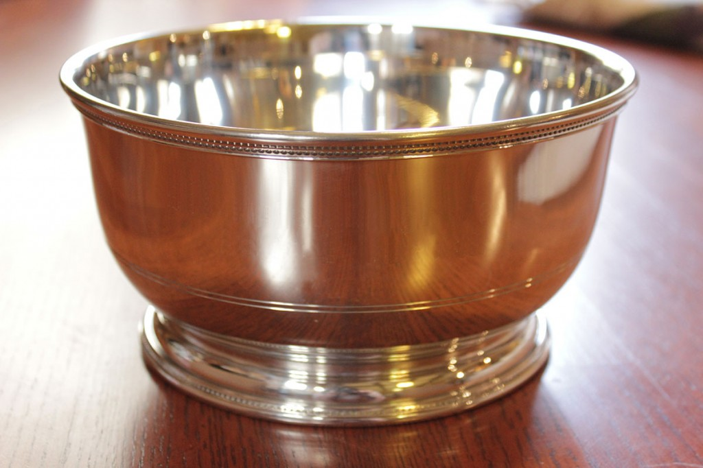 Pewter bowl given to each year's Puterbaugh Fellow